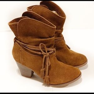 Soft suede Mia booties 👢
